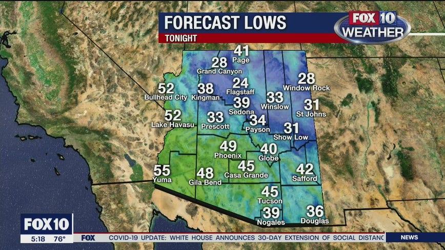 5 p.m. Weather Forecast 3/29/20