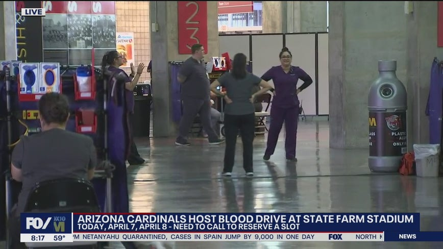 Cardinals host blood drive at State Farm Stadium