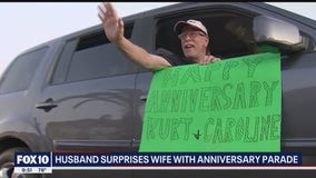 Sun City husband surprises wife with anniversary parade