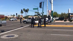 Phoenix police cruiser involved in four-vehicle collision