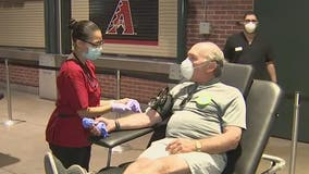 Red Cross holds blood drive at Chase Field in downtown Phoenix