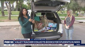 Valley teacher collects books for students in need