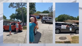 Seminole neighbors throw birthday parade for girl overcoming cancer