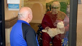 Pandemic doesn't stop Clearwater couple of 65 years from seeing each other