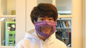 High school student makes clear face masks to help deaf and hard of hearing communicate