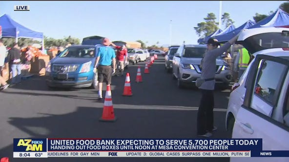 United Food Bank handing out food boxes at Mesa Convention Center
