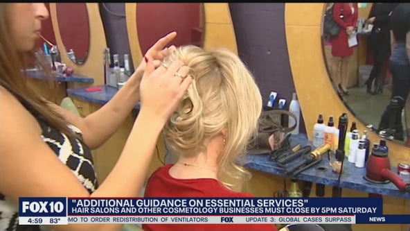 Barbers salons now closed amid COVID-19 pandemic following guidance from Gov. Ducey