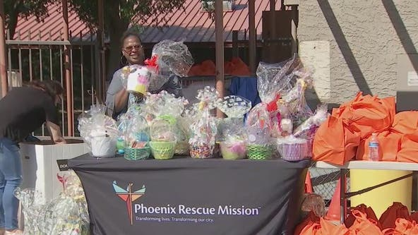 Phoenix Rescue Mission hands out hundreds of Easter baskets to families in need