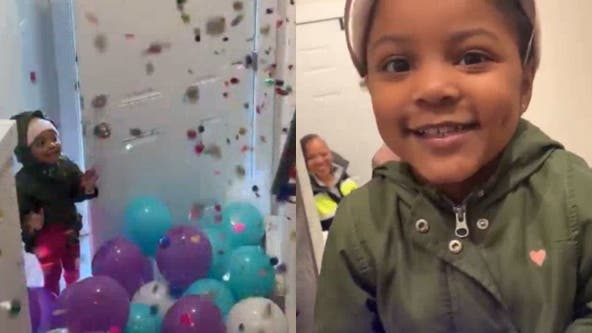 Maryland family throws surprise party for adorable 4-year-old unable to celebrate with friends