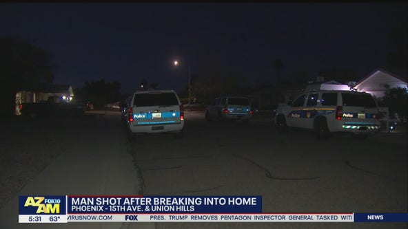 PD: Elderly homeowner shoots suspect who broke into his north Phoenix home