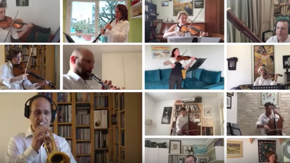 Israel Philharmonic musicians perform Passover medley in quarantine
