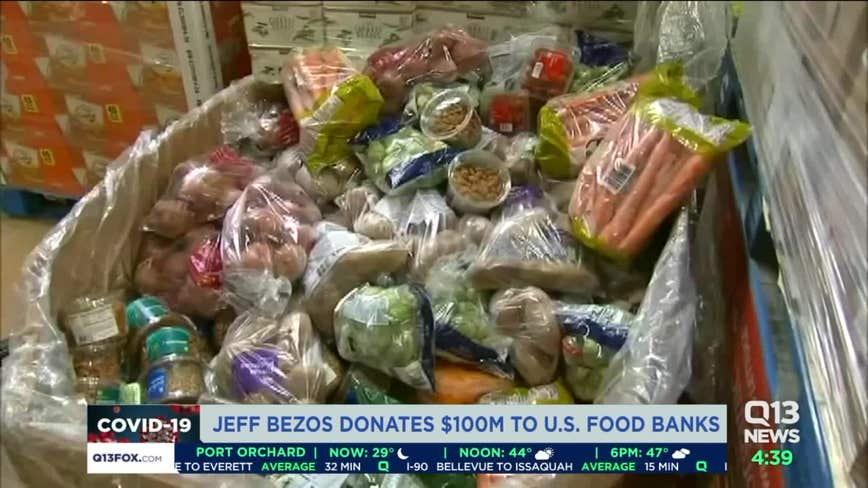 Amazon CEO Jeff Bezos donates $100 million to Feeding America