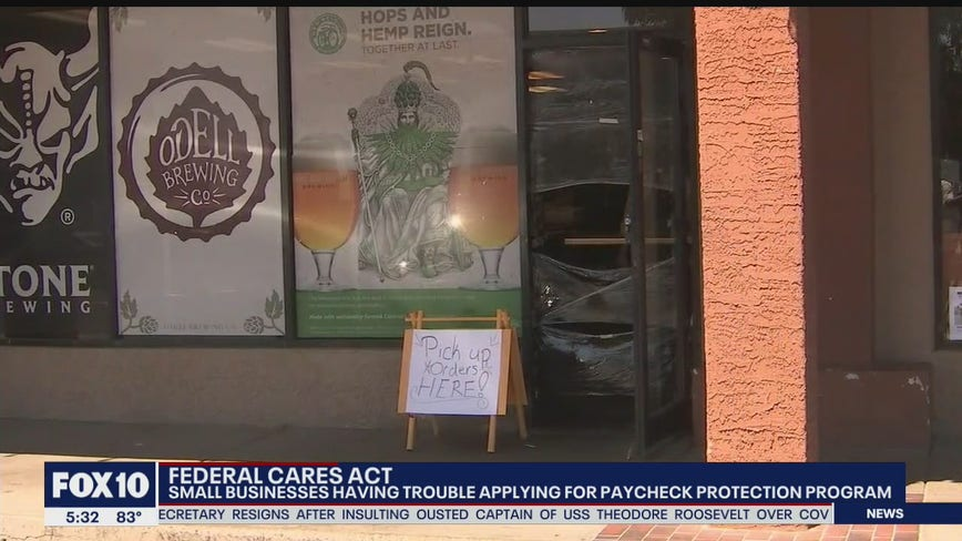 Some small businesses have problems applying for paycheck protection