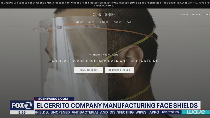 El Cerrito company slows down regular business to make face masks