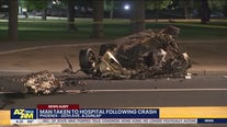 Man hospitalized after car crashes into tree in Phoenix