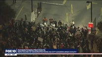 Protesters gather in downtown Phoenix for the third night in a row