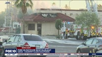 Firefighters battle fire at Mesa Sizzler restaurant