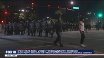 Arrests made after police, protesters clash during George Floyd march in Downtown Phoenix