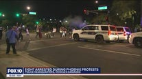 Police, protesters clash during George Floyd march in Downtown Phoenix; 8 arrested