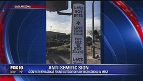 Anti-Semitic sign found outside Mesa school
