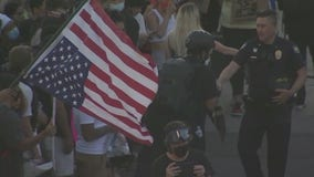 Protesters gather in Downtown Phoenix ahead of statewide curfew