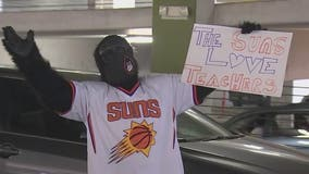 Suns honor educators with teacher appreciation drive-thru in downtown Phoenix