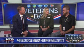 Phoenix Rescue Mission works to help homeless veterans