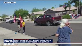 Peoria community gives WWII veteran a special birthday surprise