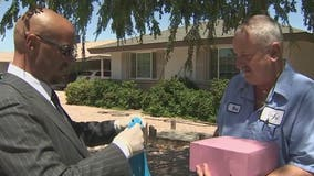 School assistant principal honors school bus driver for delivering meals to students