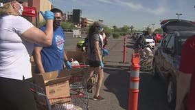 St. Mary's Food Bank holds mobile pantry at Gila River Arena, hands out food boxes to 500 families