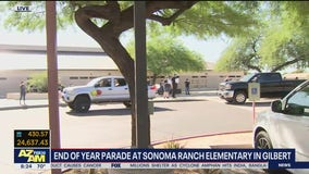 Gilbert elementary school holds end-of-year parade