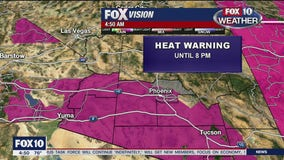 National Weather Service issues excessive heat warning for 7 Arizona counties
