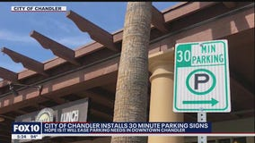 City of Chandler to install 30 minute parking signs in downtown