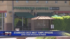 Starbucks representatives meet with Tempe officers