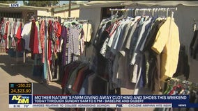 Mother Nature's Farm in Gilbert giving away clothing, shoes