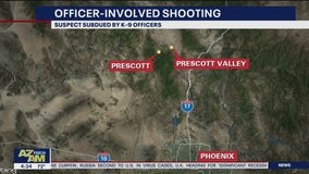 Suspect subdued by K-9 following officer-involved shooting in Prescott Valley