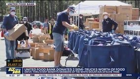 United Food Bank delivering 2 semi-trucks full of food to White Mountain Apache Tribe