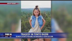 Search continues for missing 6-year-old girl swept away by Tonto Basin floodwaters