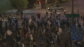 Unrest in Downtown Phoenix amid protest over deaths of George Floyd, Dion Johnson; two arrested