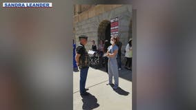Nurse known for role in anti-lockdown counterprotest raising money for Navajo Nation