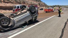 Prescott Police: Rollover crash closed State Route 89