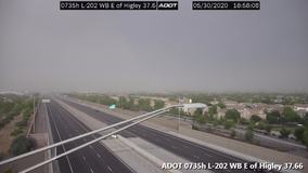 Thunderstorms, dust storms pop up throughout southeast valley