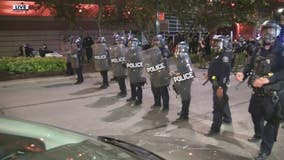 Protesters clash with Detroit police downtown; 1 demonstrator shot and killed