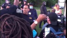 'We want to be with y'all': Michigan sheriff leads law enforcement to march alongside protesters