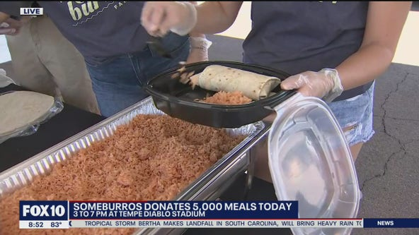 Someburros giving away 5,000 meals to Valley community