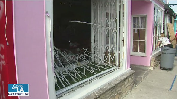 Local stores looking forward to reopening met with frustration as looters vandalize storefronts