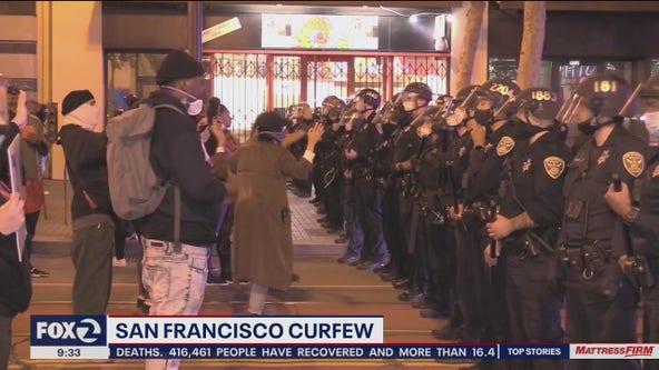 San Francisco, San Jose, Santa Clara, and Walnut Creek impose curfews to quell unrest