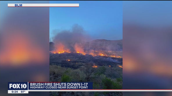 Fire crews continue to battle fire near Sunset Point