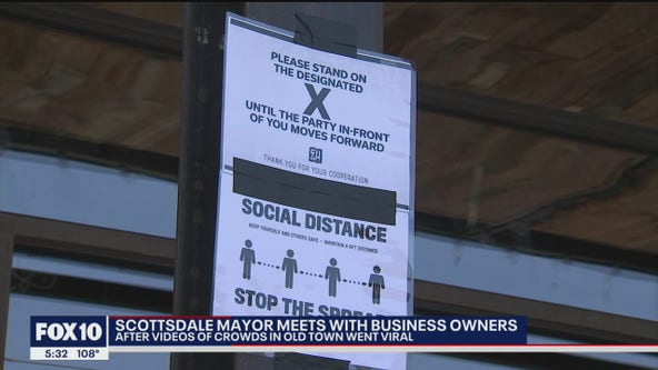 Scottsdale mayor meets with business owners after videos of crowds in Old Town went viral