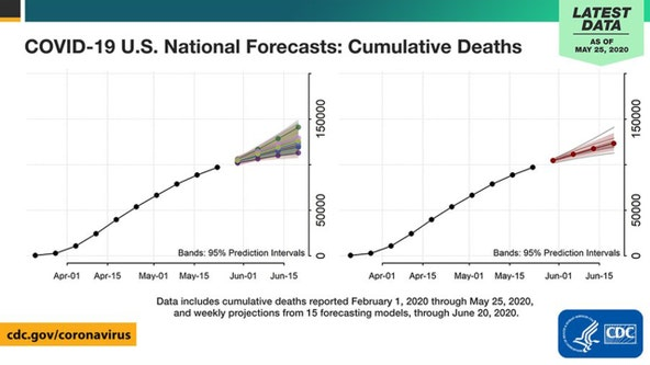 COVID-19 deaths in US projected to exceed 115,000 by June 20, according to CDC